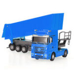 New RUICHUANG QY1101C 1/32 2.4G 6CH Rc Car Dump Truck Electric Mercedes RTR Model
