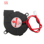 New 5pcs 24V 0.15A 5015 Sleeve Bearing Brushless Turbo Cooling Fan with 2Pin XH2.54 Wire for 3D Printer
