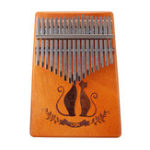New 17 Key Mahogany Kalimba Veneer Mini Thumb Piano Keyboard Carved Tone Instrument