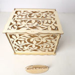 New Wedding Card Box With Lock DIY Money Wooden Gift Leaf Boxes For Birthday Party