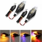 New 12V 8LED Universal Motorcycle Bike Amber LED Turn Signal Indicator Blinker Lights