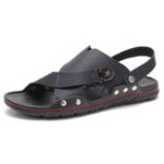 New Men Microfiber Hollow Out Casual Beach Sandals
