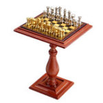 New Miniature Chess Set and Table Magnet Chess Pieces 1:12 Dollhouse Accessories Parts For Doll House