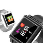 New Bakeey K8 IPS Color Screen Wristband Swimming Tracker Heart Rate Monitor Caller ID Show Smart Watch