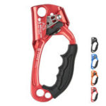 New XINDA Aluminum Alloy Climbing Mountaineer Hand Grasp Climbing Ascender Device Rappelling Belay for 8-12mm Rope