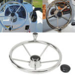 "New 13.5"" Boat Marine Yacht Stainless Steel Steering Wheel 5 Spoke With Knob"