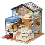 New DIY Dollhouse Miniature Kit Doll House With Furniture Gift Craft Toy