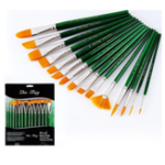 New Zhuting 15 Transparent Green Rod Practical Nylon Writing Brush Suit