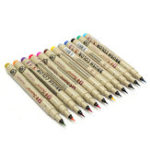 New 12 Colors 1.5mm Art Marker Manga Fine Head Paint Graphic Sketch Drawing Pen Set