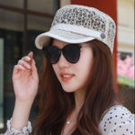New Women Summer Thin Breathable Sunscreen Flat Hat