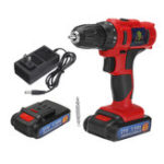 New 21V/16.8V/12V LED Cordless Electric Drill Screwdriver Driver With 1 or 2 Li-ion Battery