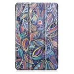New Tri-Fold Pringting Tablet Case Cover for Samsung Galaxy Tab A 10.1 2019 T510 Tablet – Tree Leaves