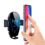 New 10W Qi Wireless Fast Charger Infrared Sensor Automatical Lock Car Holder Stand for iPhone XS XR Mobile Phone