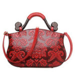 New Women Vintage Embossed Ethnic Style Handbag