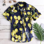 New Mens Fruit Printing Summer Casual Vacation Fashion Shirts