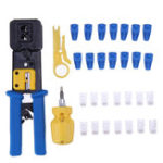 New 103Pcs Network Repair Tool Kit 6P/8P Network Hole Crystal Head Wire Crimper Plier with Mini Wire Stripper Screwdriver