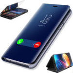 New Bakeey™ Smart Sleep Plating Mirror Window Shockproof Flip Full Cover Protective Case for Huawei P30