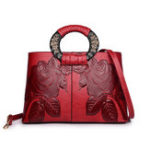 New Women Reteo Vintage Embossed Ethnic Style Handbag