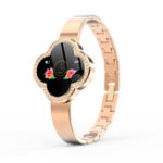 New Bakeey S6 Anti-fall Glass Stainless Steel Jewelry Buckle Heart Rate Blood Pressure Elegant Fashion Female Smart Watch Message Reminder Sport Mode
