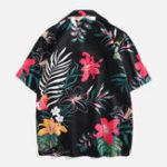 New Men Floral Printed Leisure Vacation Hawaiian Shirts