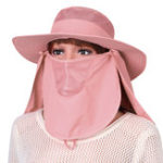 New Foldable Face Protection Breathable Removable Solid Sun Hat