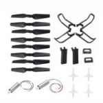 New Eachine E58 RC Drone Quadcopter Spare Parts Crash Pack Kits Propeller Blade Set With Clip Motor Gear Props Guard