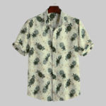New Mens Hawaiian Floral Printed Summer Holiday Loose Shirts