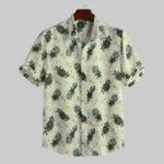 New Mens Hawaiian Floral Printed Summer Holiday Loose Shirts