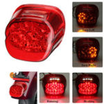 New Motorcycle Rear Tail Brake Running Light Lamp For Harley Dyna Fat Boy Sportster Road King Red Cover