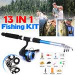 New ZANLURE 13pcs/set 5.2:1 BB Fishing Rod Reel Combo