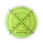 New 5pcs 60mm Large Spirit Bubble Level Degree Mark Surface Circular Measuring Bulls Eyes