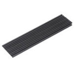 New 10Pcs/Set 200mm Round Carbon Fiber Tube Pure Carbon Hollow Pipe Roll Wrapped Matt Surface for RC Airplane DIY Tool