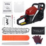 New 4500W 62cc Powered Gasoline Chainsaw Gasoline Petrol Chain Saw Cutter Wood Cutting Kit