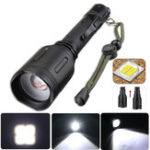 New Tactical 18650 Flashlight Zoomable Rechargerable Lamp Outdoor Camping Hunting Emergency Lantern