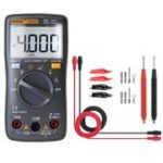 New ANENG AN8000 Black Digital Multimeter Voltmeter Ammeter Ohmmeter Volt AC DC Ohm Tester Meter + Test Lead Set