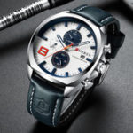 New CURREN 8324 Chronometer Casual Style Male Sport Watch