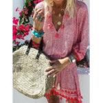 New Bohemian Tassel Patchwork Dress