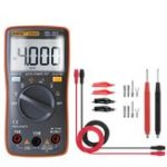 New ANENG AN8000 Orange Digital Multimeter Voltmeter Ammeter Ohmmeter Volt AC DC Ohm Tester Meter + Test Lead Set