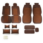 New Leather Car Seat Cover 5-Seat SUV Car Seat Cushion Front Rear Set
