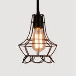New Nordic Style Retro E27 Metal Pendant Cage Light for Bar Coffee Shop Indoor Hanging Lamp Decor