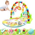 New Foot Play Piano Musical Lullaby Baby Activity Playmat Gym Toy Soft Baby Play Mat