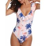 New Ruffled Collar Backless Swimwear For Women