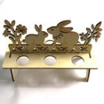 New DIY 6-Slot Wooden Easter Eggs Display Holder Easter Egg Tray Cute Rabbit Style Decorations