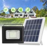 New 50 LED Solar Panel Power Flood Light Dust To Dawn Sensor Garden Outdoor Lamp Waterproof
