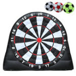 New 4M/13ft High Giant Game Soccer Balls Inflatable Dart Board With 220V Air Blower Toys