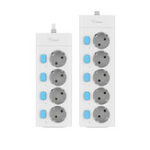 New BULL 16A 4/5 Way Independent Switch AC Universal Outlets Plug Home Socket EU Plug Power Strip Overload Protection Extension Cord
