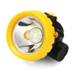 New 1W 3500L Miner Head Cordless Torch Lamp Light LED Helmet Safety Power Miner LED Search Light