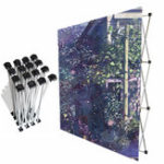New Aluminum Flower Wall Folding Stand Frame Backdrop Banner Show Wedding Decor Supplies