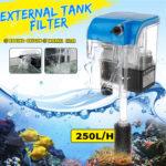 New 220V Aquarium Hang On Filter Waterfall Hanging Wall Mounted Fish Tank Filtration Water Filter External Tank Filter