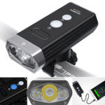 New ROCKBROS 1800LM USB Rechargeable Bike Light Flood and Focus Beam IPX6 Waterproof 3 Modes Flashlight Riding Light